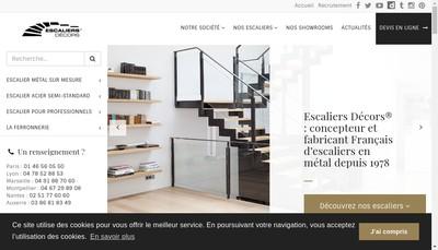Site internet de Escaliers Decors - Esca Industrie