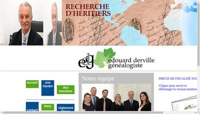 Site internet de Edouard Derville Genealogie