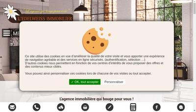 Site internet de L'Edelweiss Immobilier