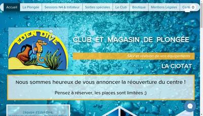 Site internet de Eden Dive SARL