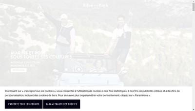 Site internet de Eden Park