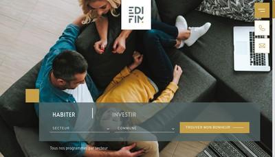 Site internet de Edifim Grenoble