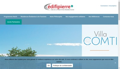 Site internet de Edifipierre