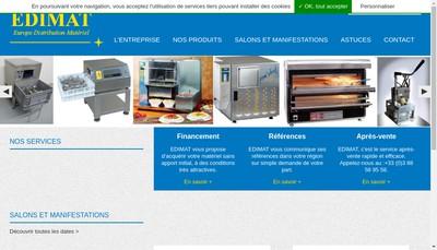 Site internet de Europe Distribution Materiel