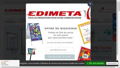 Site internet de Edimeta