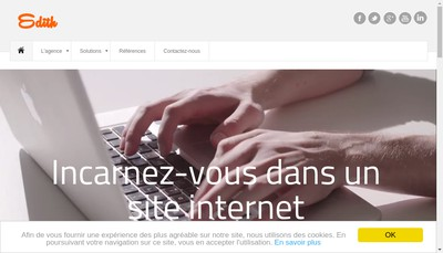 Site internet de Edith Digital