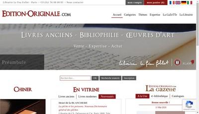 Site internet de Librairie le Feu Follet - Edition - Originale Com