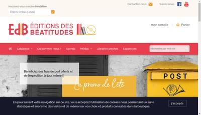 Site internet de Editions des Beatitudes