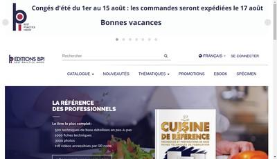 Site internet de Editions Bpi