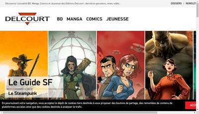 Site internet de Editions Delcourt - Editions Soleil