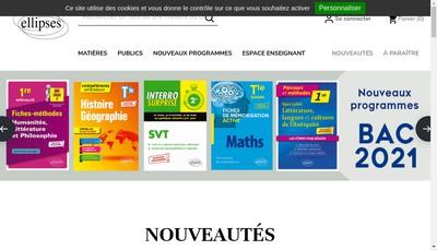 Site internet de Ellipses