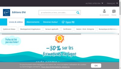 Site internet de Editions Eni