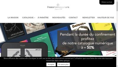 Site internet de Librairie Hermann