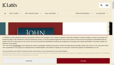 Site internet de Editions Jean Claude Lattes