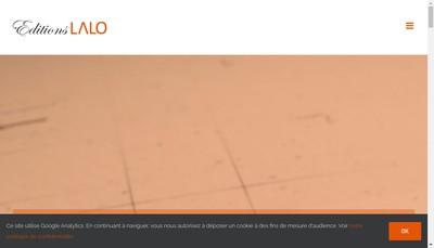 Site internet de Editions Lalo