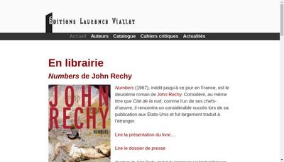 Site internet de Editions Laurence Viallet
