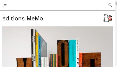Site internet de Editions Memo
