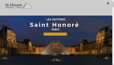 Site internet de Saint Honore Edition