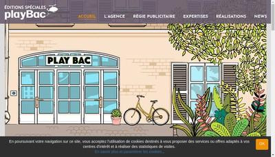 Site internet de Editions Speciales Play Bac