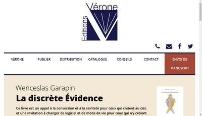 Site internet de Editions Verone