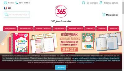 Site internet de Editions 365