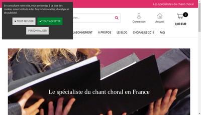 Site internet de Editions a Coeur Joie