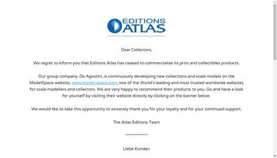 Site internet de Editions Atlas