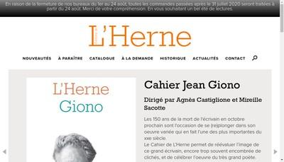 Site internet de Editions de l'Herne