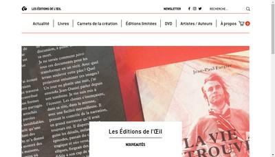 Site internet de Les Editions de l'Oeil