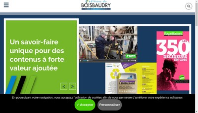 Site internet de Editions du Boisbaudry