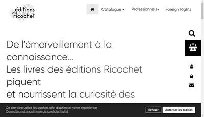 Site internet de Les Editions du Ricochet