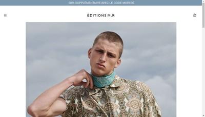 Site internet de Editions MR