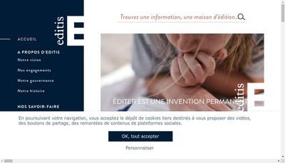 Site internet de Editis