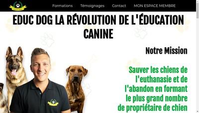 Site internet de Educ-Dog