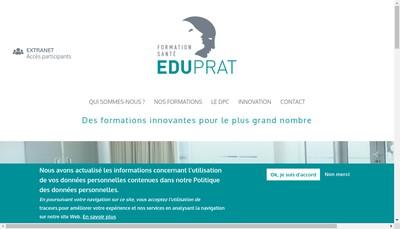 Site internet de Eduprat Formations
