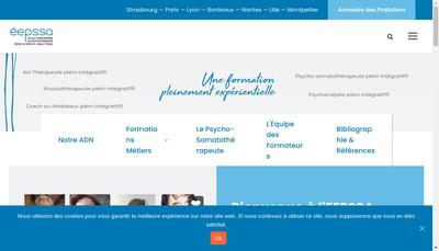 Site internet de Eepssa Ecole Europenne Psychotherapie