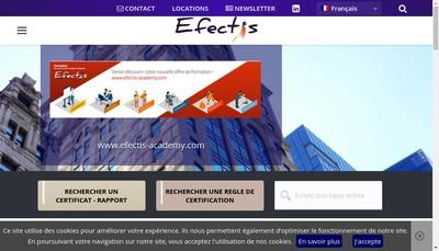Site internet de Efectis Holding SAS