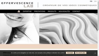 Site internet de Effervescence Lab