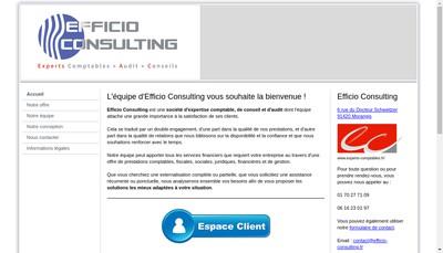 Site internet de Efficio Consulting
