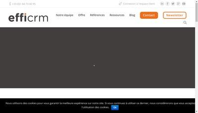 Site internet de Efficrm