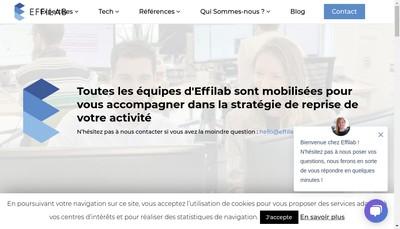 Site internet de Effilab