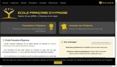 Site internet de Ecole Francaise d'Hypnose