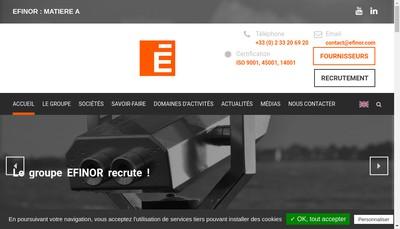 Site internet de Efinor Engineering Normandie