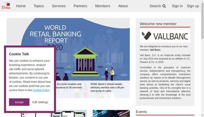 Site internet de Efma