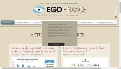 Site internet de EGD Finance