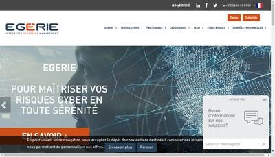 Site internet de Egerie Software