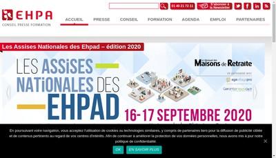 Site internet de EHPA Formation