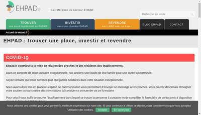Site internet de Ehpad Bastide du Mont Vinobres