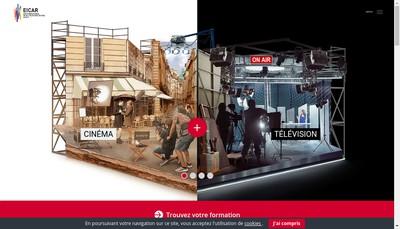 Site internet de Ecole Internationale de Creation Audiovisuelle et de Realisation