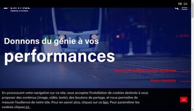 Site internet de Eiffage Energie Systemes - Regions France